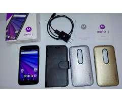 Celular 4G Motorola Moto G3 XT1542 8gb SD64GBfundas Nuevo