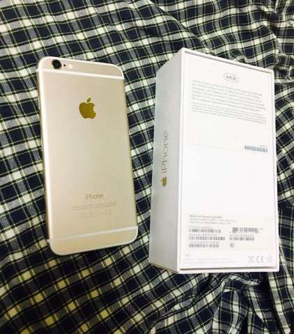 iPhone 6 Gold de 64 Gbs Flamante