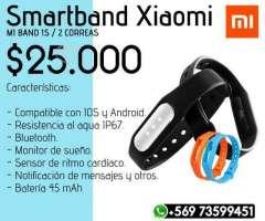 Smartband Xiaomi Mi Band 1S +2 Correas Adicionales, XIV Los Ríos