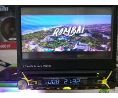 Radio con Pantalla Retráctil Bluetooth
