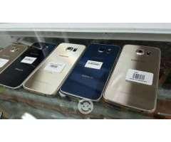 Samsung Galaxy S6 Azul y Dorado Estetica de 10