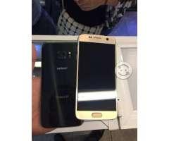 Samsung s7 flat Libre de fábrica 32gb Dorado/Negro