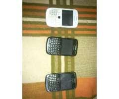 Vendo 3 blackberry para repuestos