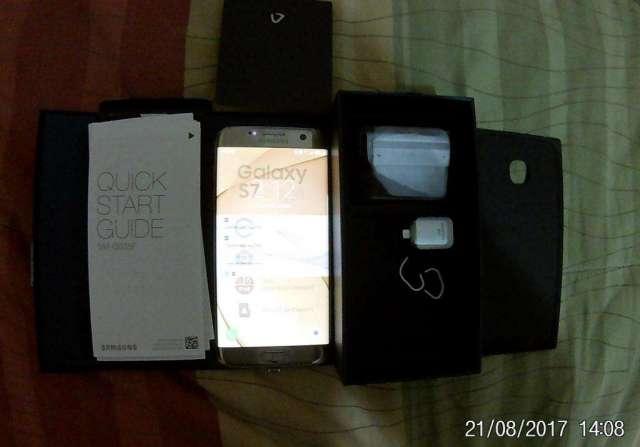 Vendo celular Samsung Galaxy S7 edge Dorado.