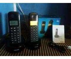 Vendo pack de Telefonos Inalambrico Philips C/garantia en caja pilas recargables incluidas impe