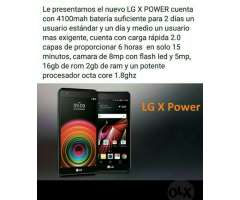 Lg X Power Android 6.0 Octacore 8mp 16gb