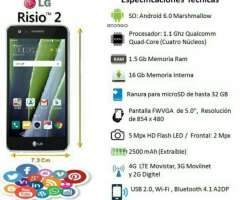 Lg Risio 2 4g Android 6.0 Quadcore 16gb