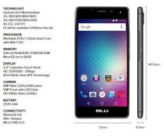 Blu R1 Hd 2 Gb De Ram 16 Gb 4gLTE 5.0 pulgadas de display