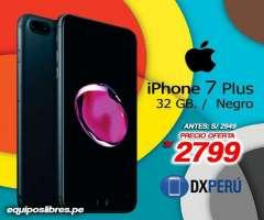 iPhone 7 Plus de 32 GB Súper descuento y disfruta la mejor experiencia de tener un iPhone