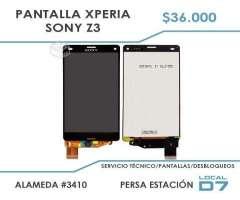 Pantalla Sony Xperia Z3 instalada