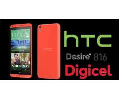 HTC DESIRE 816 PARA DIGICEL LEVANTA H 5.5 PULGADAS, 1.5 RAM, 13 MP ANDROID 6, $120 NEG.