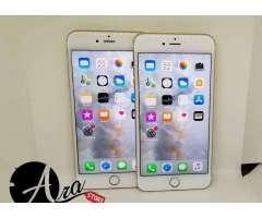 Iphone 6s plus Dorados excelente condición como nuevos!