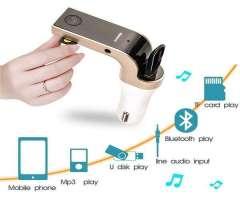 Transmisor Fm con bluetooth/Usb/microSd/Aux.